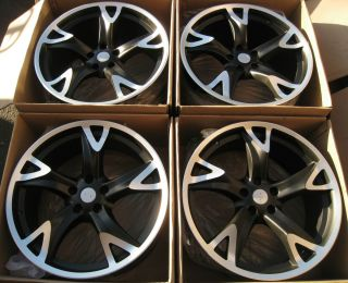 Set for Nissan 370Z 350Z G35 Coupe Staggered Alloy Rims Set