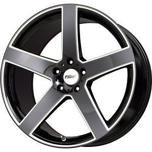New 19x8 5x112 TSW TSW Rivage Black Wheels Rims