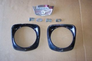 Ford Truck F100 Headlight Doors Rims Hood Emblem Grille Letters