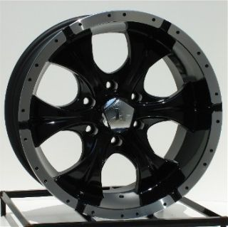 17 inch Black Wheels Rims Dodge RAM Durango 5 Lug Helo