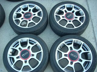 OEM FIAT 500 SPORT WHEELS TIRES RIMS POP LOUNGE POLISHED CONTINENTAL