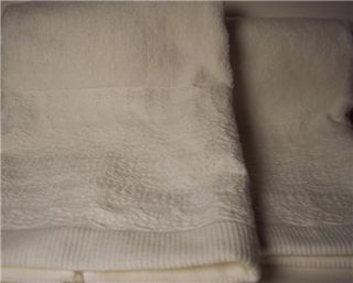 Simply Shabby Chic Lace Dobby White Hand Towels X2