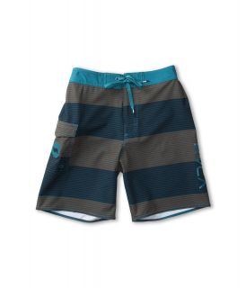 RVCA Kids Civil Stripe Boardshort Boys Swimwear (Bronze)