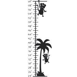 Monkey Palm Tree Growth Chart Vinyl Wall Decal (LargeSubject OtherMatte Various colors, clear backgroundImage dimensions 36 inches high x 12 inches wide )