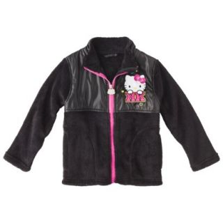 Hello Kitty Toddler Girls Fleece Jacket   Black 2T