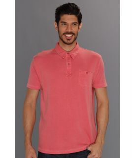 Lucky Brand One Pocket Polo Mens Short Sleeve Pullover (Red)