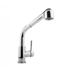 Meridian Faucets 2043000 Universal Single Lever Kitchen Faucet with Pullout Spra