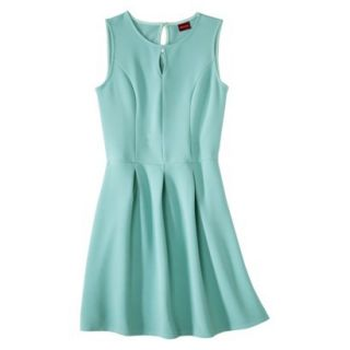 Merona Womens Textured Sleeveless Keyhole Neck Dress   Sunglow Green   M