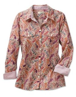 Wrinkle resistant Cotton Poplin Paisley Shirt, 12