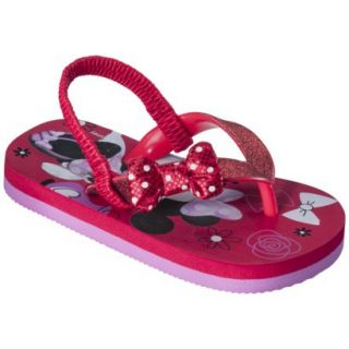 Toddler Girls Minnie Mouse Sandals   Red XL