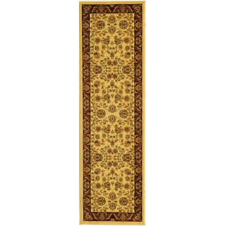 Lyndhurst Collection Tabriz Ivory/ Red Runner (23 X 20)