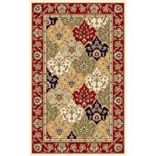 Lyndhurst Collection Multicolor/ Red Rug (4 X 6)