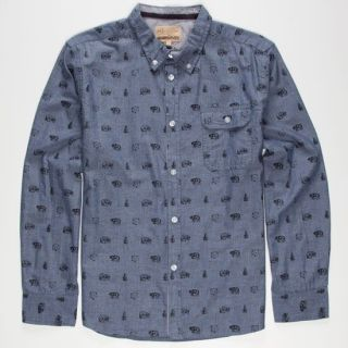 Bear Trap Boys Shirt Chambray In Sizes X Large, Large, Medium, Smal
