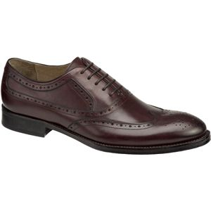 Johnston & Murphy Mens Tyndall Wing Tip Burgundy Shoes   20 4243