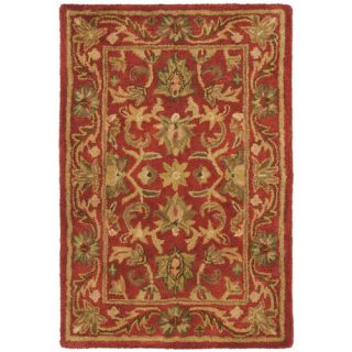 Safavieh Antiquities Majesty Red Rug AT52E Rug Size Oval 76 x 96
