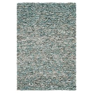 Safavieh Leather Shag Light Blue Rug LSG511L Rug Size 5 x 8