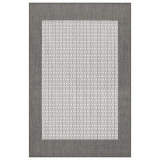 Couristan Recife Checkered Field Grey/White Rug 1005/3012 Rug Size Square 86