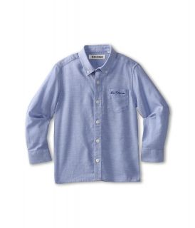 Ben Sherman Kids Joseph L/S Shirt Boys Long Sleeve Button Up (Blue)