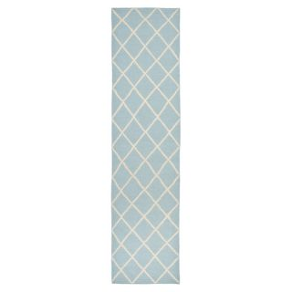 Safavieh Dhurries Light Blue/Ivory Rug DHU565B Rug Size Runner 26 x 10