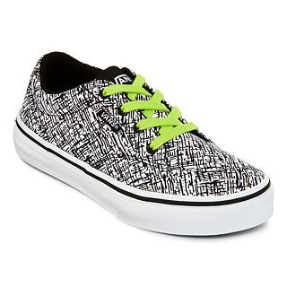 Vans Winston Boys Skate Shoes, Cracked Wht Blk, Boys