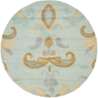 Safavieh Soho Light Blue/Multi Rug SOH215A Rug Size Round 6