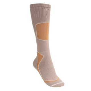 Lorpen Tri Layer Light Cushion Ski Socks   PrimaLoft(R)  Merino Wool  Over the Calf (For Women)   APRICOT (S )