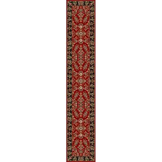 Oriental Lyndhurst Collection Red/black Runner (23 X 14) (RedPattern OrientalMeasures 0.375 inch thickTip We recommend the use of a non skid pad to keep the rug in place on smooth surfaces.All rug sizes are approximate. Due to the difference of monitor