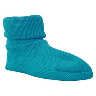 Womens MUK LUKS Cuff Slipper Sock W/ Anti Skid   Turquoise