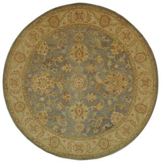 Safavieh Antiquities Blue/Beige Rug AT312A Rug Size Round 8