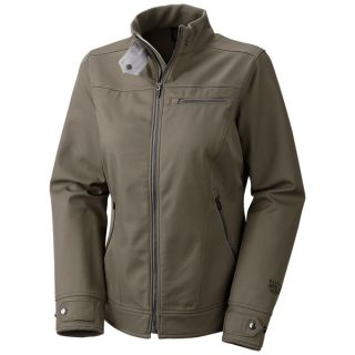 Mountain Hardwear Beemer Soft Shell Jacket (For Women)   STONE GREEN (L )
