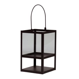 Urban Trends Collection Small Brown Metal Lantern (MetalDimensions 6.5 inches long x 6.3 inches wide x 10.4 inches highModel 40305For decorative purposes onlyDoes not hold water)