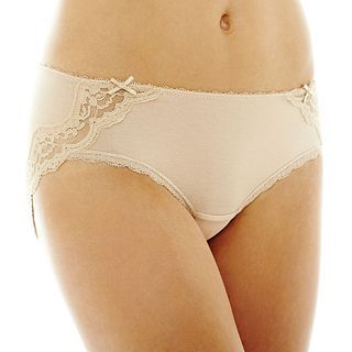 THE BODY Elle Macpherson Intimates Modal and Lace Hipster Panties, Toasted