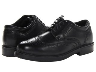 Soft Stags Gazette Mens Lace Up Wing Tip Shoes (Black)