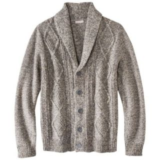 Merona Mens Shawl Collar Cardigan   Dark Taupe Flecks XL