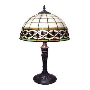 Dimond Lighting DMD 70141 2 Angel Wing 2 Light Table Lamp with Tiffany Glass Sha