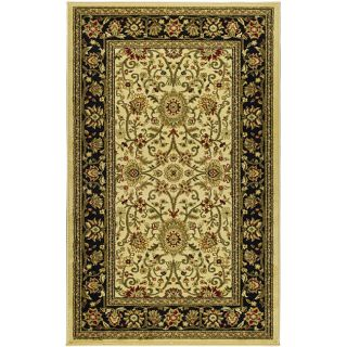 Lyndhurst Collection Majestic Ivory/ Black Rug (33 X 53)