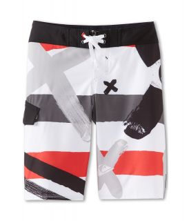 Quiksilver Kids A Little Tude Boardshort Boys Swimwear (White)