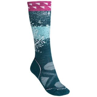 SmartWool PhD Snowboard Medium Socks   Merino Wool  Midweight  Over the Calf (For Women)   LIGHT GREY (M )