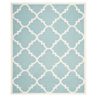 Safavieh Dhurries Light Blue/Ivory Rug DHU633C Rug Size 9 x 12