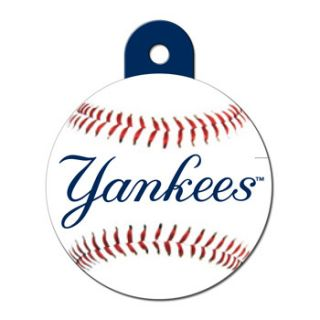 New York Yankees MLB Personalized Engraved Pet ID Tag, 1 1/4 W X 1 1/2 H