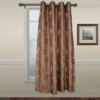 A L Ellis Inc Ellis Astonish Mocha Grommet Top Lined Panel   50 x 84 in.