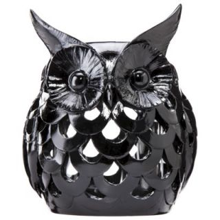 Black Owl Candleholder by Torre & Tagus