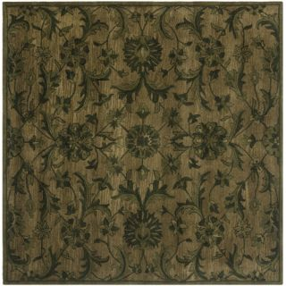Safavieh Antiquity Olive/Green Rug AT824A Rug Size Square 6 x 6