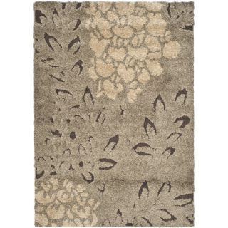 Safavieh Florida Shag Smoke/Dark Brown Rug SG456 7928 Rug Size 4 x 6