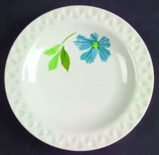 Iroquois Painted Daisy Blue Bread & Butter Plate, Fine China Dinnerware   Intagl