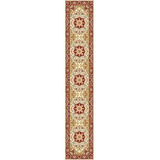 Lyndhurst Collection Ivory/red Oriental Runner Rug (23 X 22)