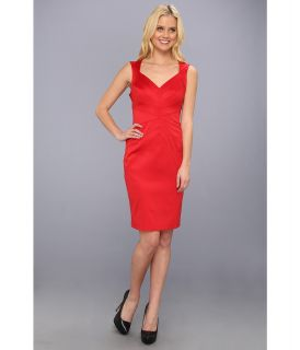 Jessica Simpson Sleeveless Sunburst Pintuck Dress Womens Dress (Red)