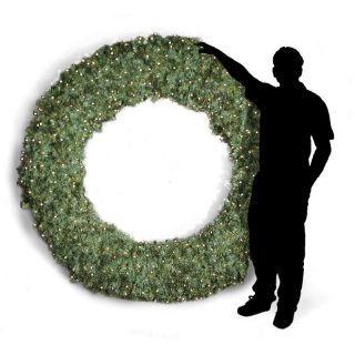 Brite Ideas Decorating 108 in. Commercial Pre lit Christmas Wreath Multicolor