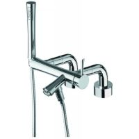 La Torre 17024 CHR Konvex Single Lever External Deck Mount Bath Mixer with Hand