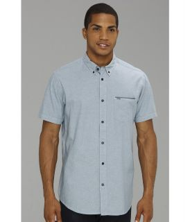Rip Curl Chambers S/S Shirt Mens Short Sleeve Button Up (Blue)